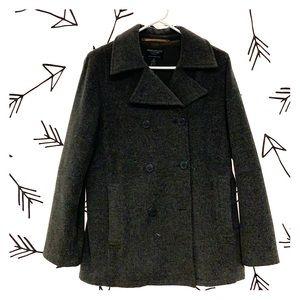 Dark Gray Wool Pea coat